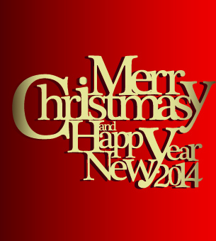 christmas new year text design vector background