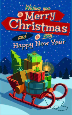 christmas new year vector backgrounds