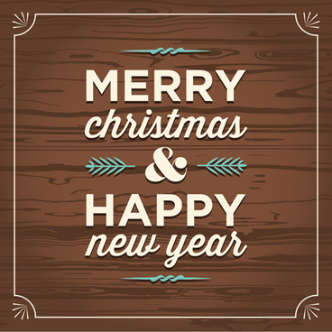 christmas new year wood pattern background vector