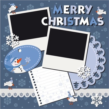 christmas notes stickers 05 vector