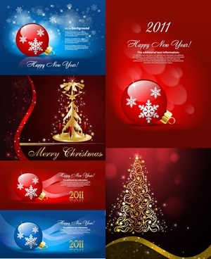 christmas background templates gorgeous bokeh baubles fir trees