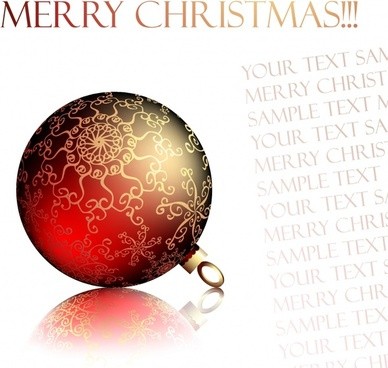 christmas background shiny 3d bauble ball decor