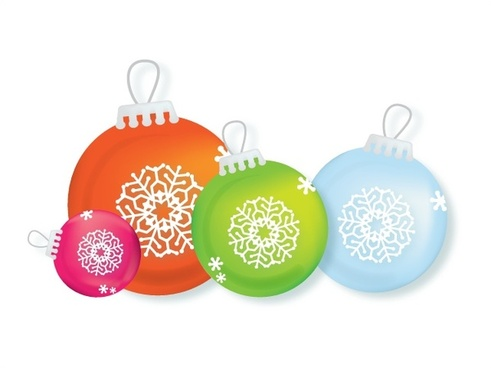 christmas bauble balls vector design with various colors