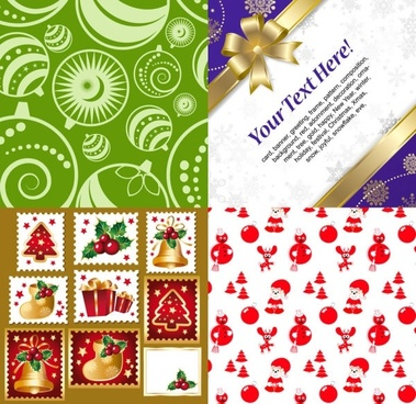 christmas ornaments around the product vector