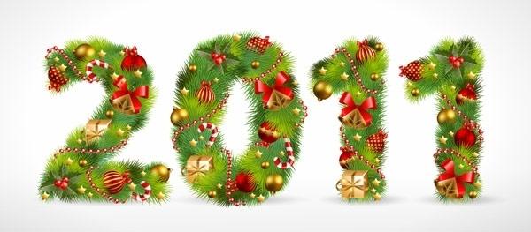 christmas ornaments consisting of digital vector