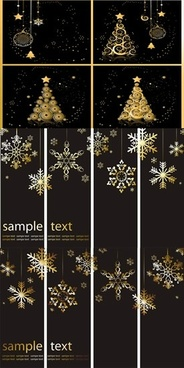 christmas background templates elegant dark golden black decor