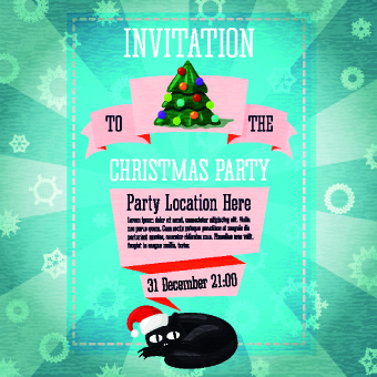 free christmas party invitation template free vector download