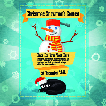 christmas party invitation cover creative vector