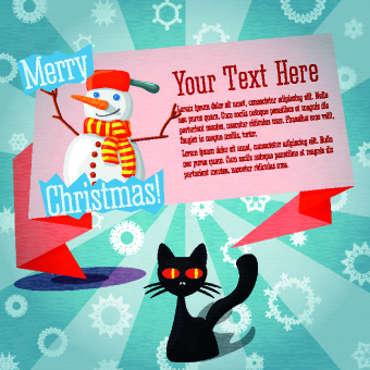 christmas party invitation cover creative vector - Free Christmas Invitation Templates
