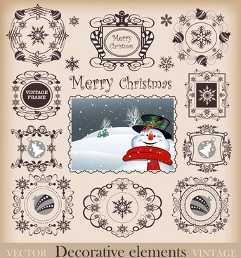 christmas pattern border 02 vector