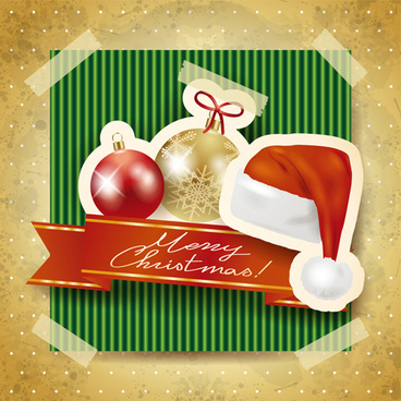 christmas photo frame background vector