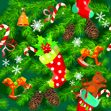 christmas pine needles vector background
