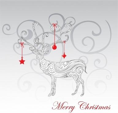 reindeer outline free vector download 6 418 free vector for