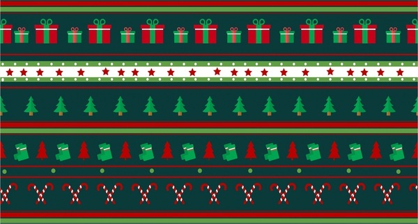 christmas repeating pattern symbol elements collection design