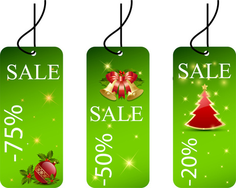 christmas sale tags collection