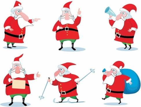 Christmas Santa Claus Vector Set