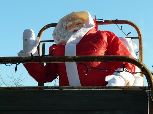 christmas santa claus wave