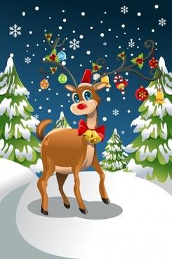 christmas scene vector illustration