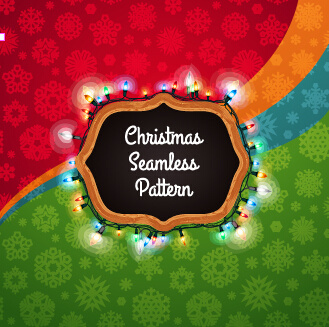 christmas seamless pattern snowflake colored vector