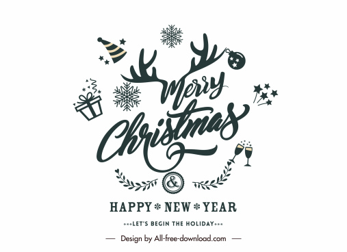 christmas sign template classical xmas elements decor