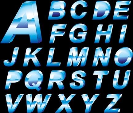 christmas snow vector english font alphabet
