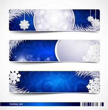 christmas snowflake banner vector