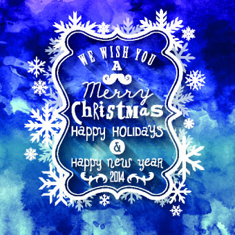 christmas snowflake frame background vector
