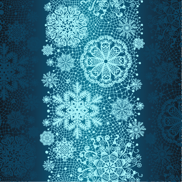 christmas snowflake lace vector set