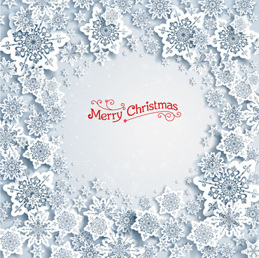 christmas snowflakes backgrounds vector