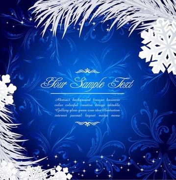 christmas snowflakes vector shading