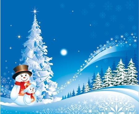 christmas snowman snow vector