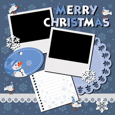 christmas snowman snowflakes vector shading