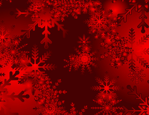 christmas snowy red vector background