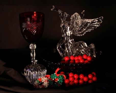 christmas still life holiday decoration angel