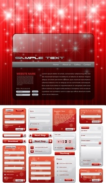 christmas style web design elements vector