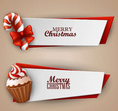 christmas sweet banner vector