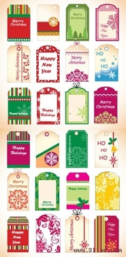 christmas card templates collection colorful classical decor