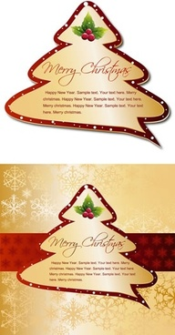 christmas card design element fir tree shape sketch
