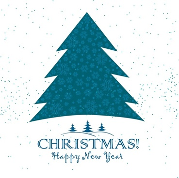 christmas template fir tree symbol on white background