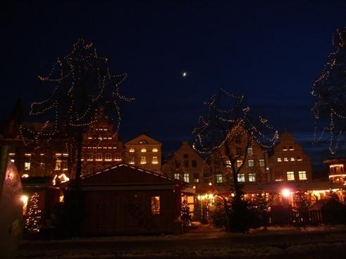 christmas time christmas market lights