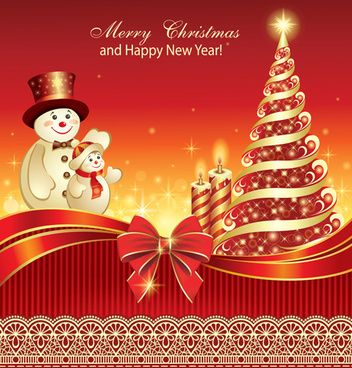 christmas tree and candle background vector