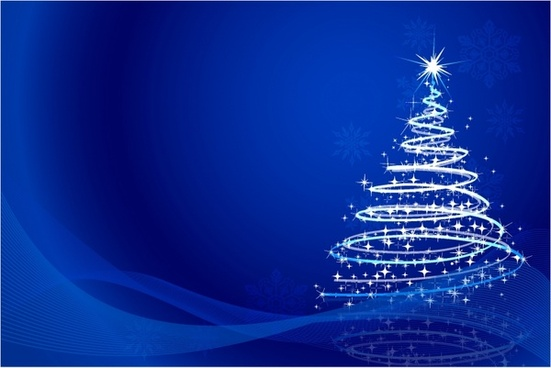 christmas tree background - Christmas Tree Blue