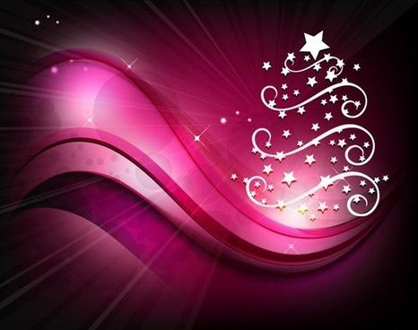 christmas tree background vector illustration