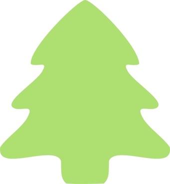 Christmas Tree Icon clip art