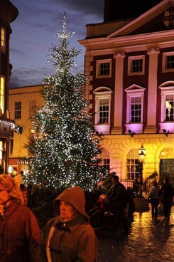 christmas tree in town