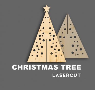 christmas tree laser cutwood natale albero