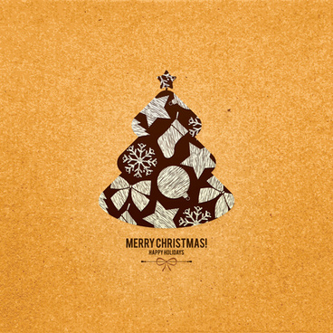 christmas tree menu background vector