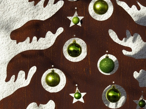 christmas tree metal glaskugeln