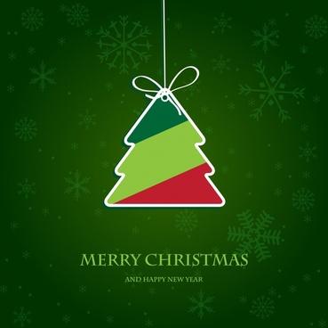 christmas tree tags vector christmas labels