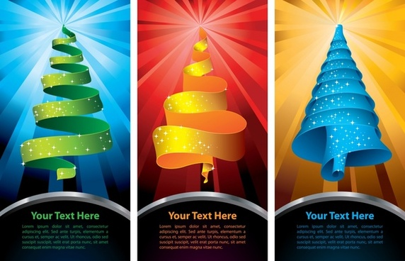 christmas card templates fir tree shapes 3d decor
